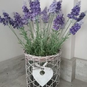 Rustic Lavendar In A Glass Vase