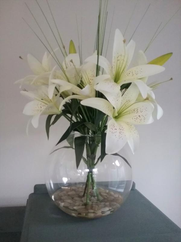 Exotic Cream King Lillies Floral Display