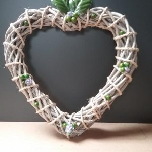 Berries & Roses On A Wicker Wreath