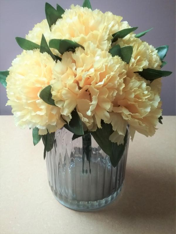 yellow carnations floral display