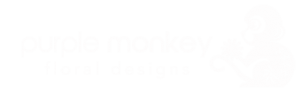purple monkey logo white